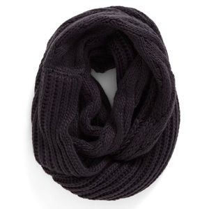 BP Chunky Knit Infinity Scarf Charcoal